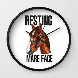 Horse Horses Ponies Riding Horse Equestrian Wall Clock