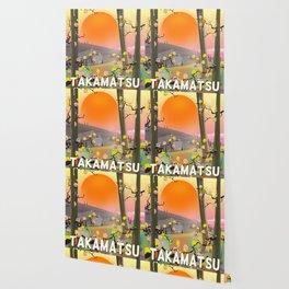 Takamatsu japan travel poster Wallpaper