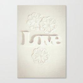 Love & Doilies Canvas Print