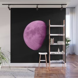 4K Dark Side of the Moon Fuchsia Wall Mural