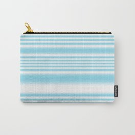 Sky Blue and White Stripes Carry-All Pouch