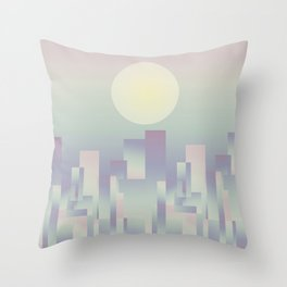 Opalescent dawning Throw Pillow