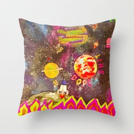 Space trip Throw Pillow