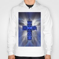 cross Hoodies featuring Cross by Mr D's Abstract Adventures