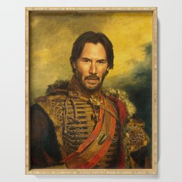 Keanu Reeves - replaceface Serving Tray