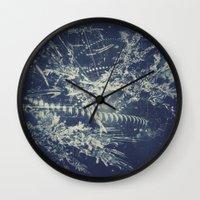 blueprint Wall Clocks featuring Blueprint by Jesse Rather