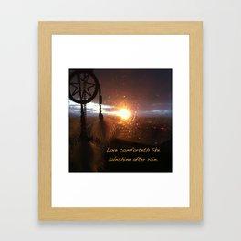 Catch the Sunset Framed Art Print