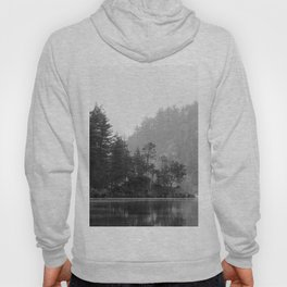 Historic Mattawa River in Black and White Hoody