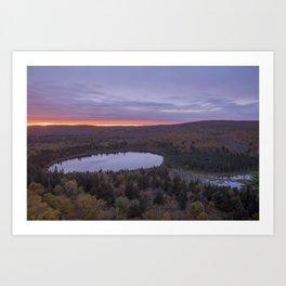 Oberg Lake during an Autumn Sunset Art Print
