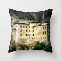 castle Throw Pillows featuring Castle by DistinctyDesign