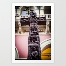 Carved Stone Cross Art Print