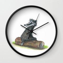 Badgers Date Wall Clock