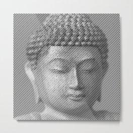 Buddha Face Statue Metal Print
