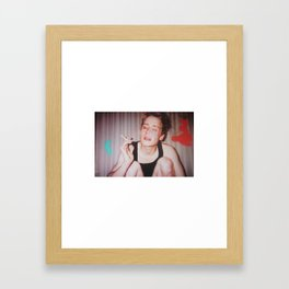 Home Alone Smoking (T-shirt) Framed Art Print
