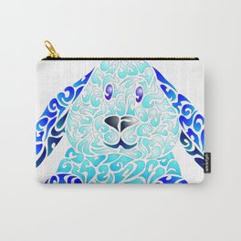Blue Lapinou Carry-All Pouch
