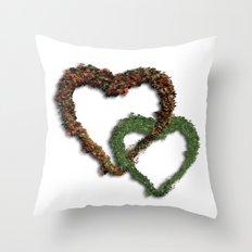 natural hearts Throw Pillow