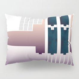 Minimalist Gradient Geometric Interlocking Abstract Structures #buyart #homedecor Pillow Sham