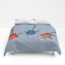 Dancing guitars Comforters