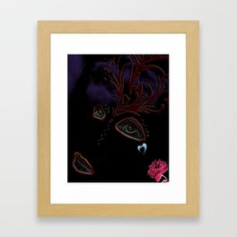 Blackout Woman Framed Art Print