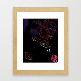 Blackout Woman Framed Art Print