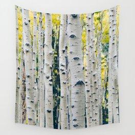 Aspen Forest Tree Bark Wall Tapestry