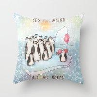weird Throw Pillows featuring Weird by Tatiana Ivchenkova