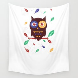Autumn Owl Wall Tapestry