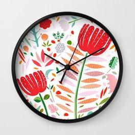 folk floral Wall Clock