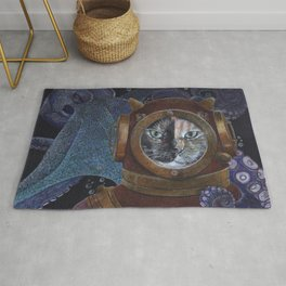 Deep Sea Diving Cat Rug