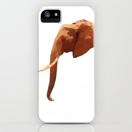 Low Poly Elephant iPhone Case