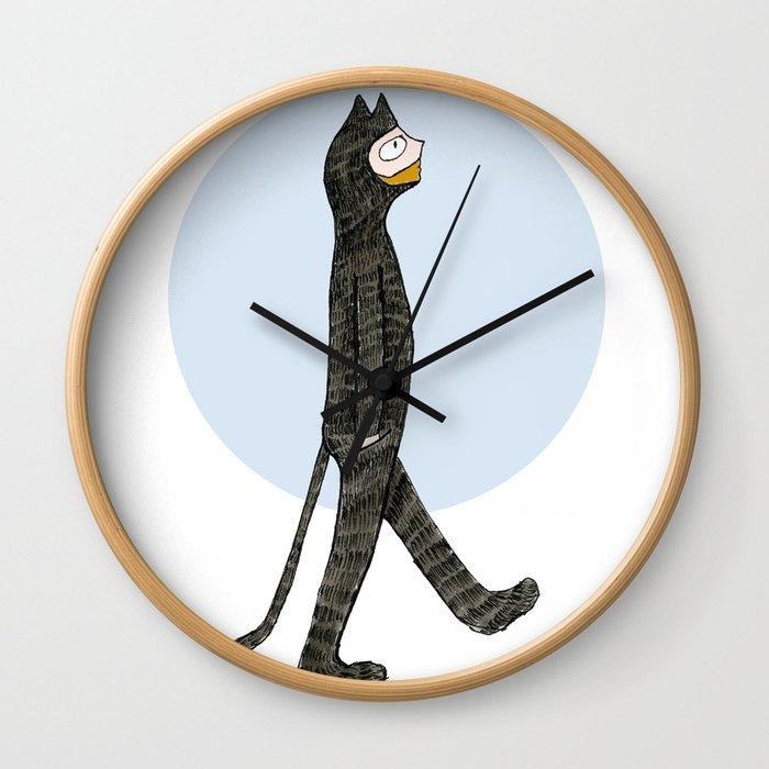 Cat Blues Wall Clock