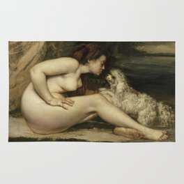 Gustave Courbet - Nude Woman with a Dog Rug