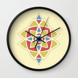 Zellige Tile Art Wall Clock