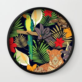 Jungle animals of Amazonia Wall Clock