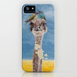 Olivia: My Dainty Ostrich iPhone Case