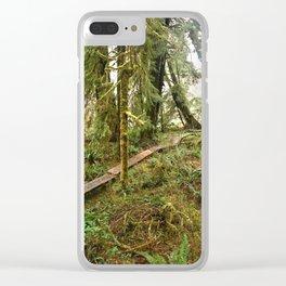 Pacific Coast Rainforest Boardwalk Clear iPhone Case