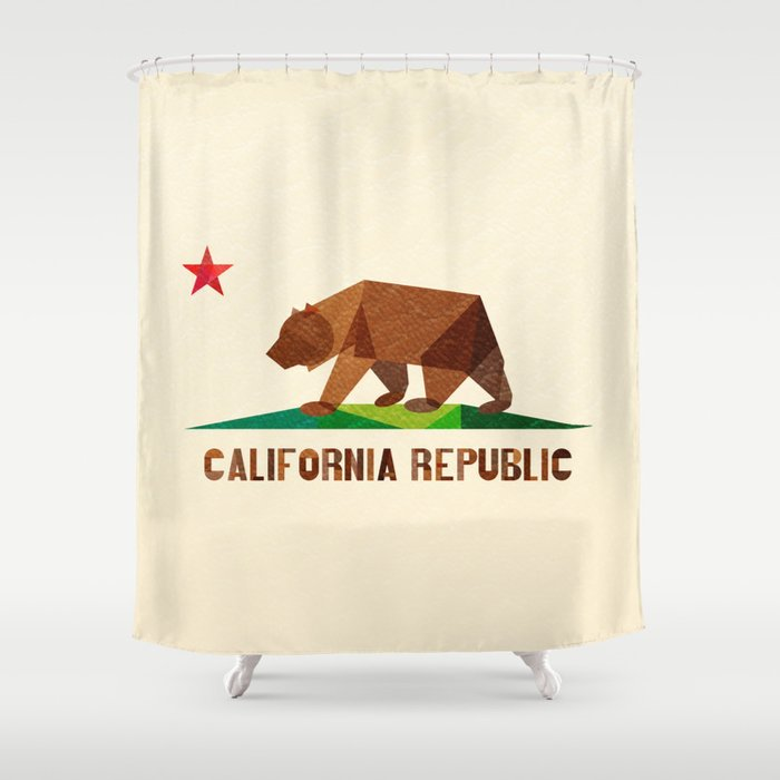 California Shower Curtain By Fimbis