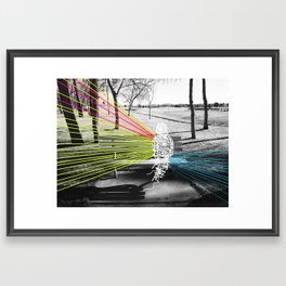 Benched Framed Art Print