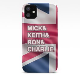 Rock and roll legends | for rock and roll fans | British Rock iPhone Case