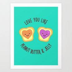Sweet Lovers Art Print