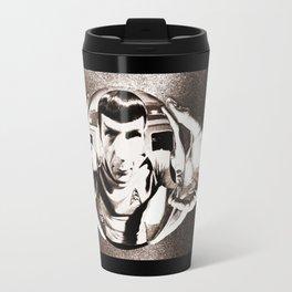 Escher Inspired Spock (Star Trek) Travel Mug