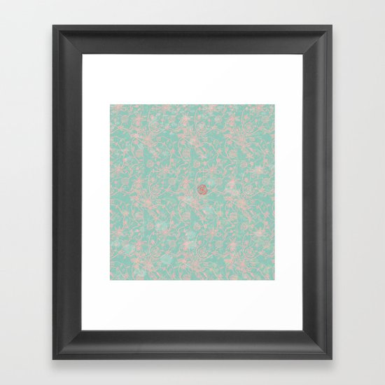 Tribal Flowers Framed Art Print
