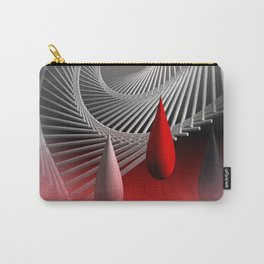 a spiral geometrical design Carry-All Pouch