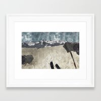 skiing Framed Art Prints featuring Skiing by Christopher Bennett