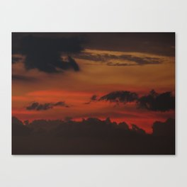 A Sky On Fire - 2 Canvas Print