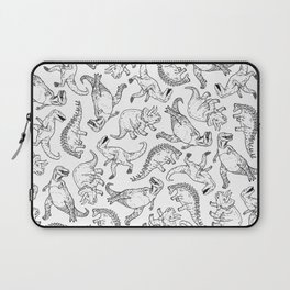 Dinosaurs in W & B Laptop Sleeve