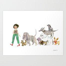 Doggy happiness Art Print