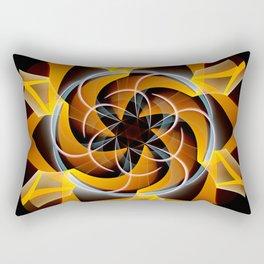 Sun dance, fractal abstract Rectangular Pillow