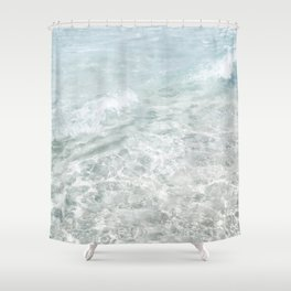 Translucent Waves Shower Curtain