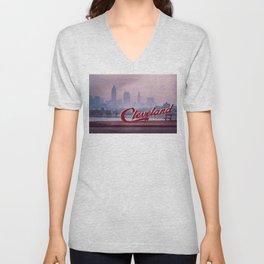 Homesick - Cleveland Skyline Unisex V-Neck